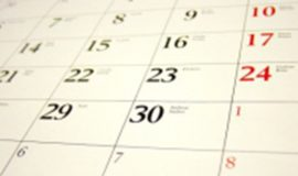 Closeup image of calendar