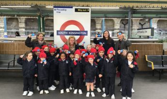 Reception Visit to Gloucester Road Tube