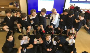 Muddy knees from Year 1's first fixture!
