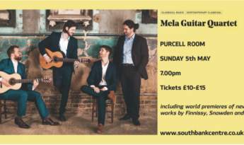 Guitar Concert – our own Mr Robinson is performing at the Purcell Room on the 5th May!