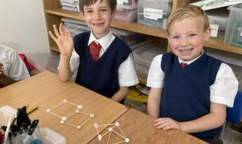 Year 2: 3D marshmallow shapes